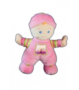 Doudou Poupée fille rose Grelot FISHER PRICE 27 cm Baby's 1st doll First