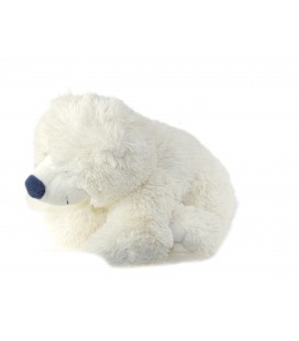 Peluche Doudou Ours polaire blanc assis 25 cm Gipsy