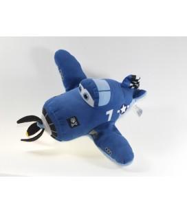 Peluche Skipper Riley avion Disney Planes Famosa bleu 26 cm