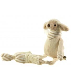 Peluche doudou Mouton beige 15 cm assis, 32 cm au total Les Petites Marie Raynaud