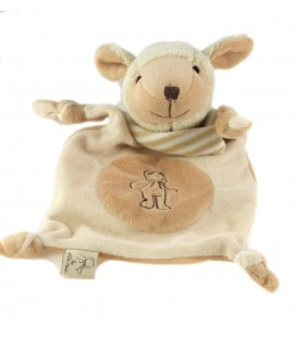 Peluche doudou plat Mouton beige Les Petites Marie Raynaud