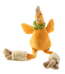 Peluche doudou poule orange 16 cm assis, 32 cm au total Les Petites Marie Raynaud