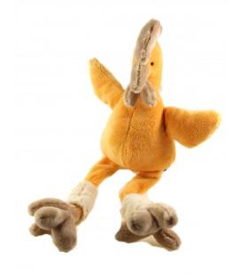 Peluche doudou poule Coq orange 25 cm assis, 45 cm Les Petites Marie Raynaud