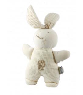 Peluche doudou Lapin blanc 26 cm Les Petites Marie