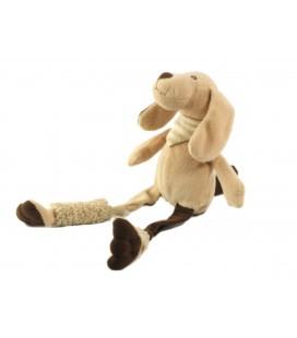 Peluche doudou chien beige 15 cm assis, 30 cm Les Petites Marie Raynaud