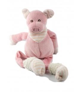 Peluche doudou cochon rose 15 cm assis, 30 cm Les Petites Marie Raynaud