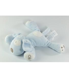 Doudou chien bleu allongé 16 cm Obaibi