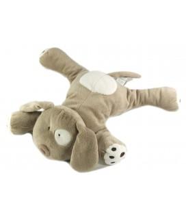 Doudou Peluche chien gris beige blanc 26 cm Obaibi