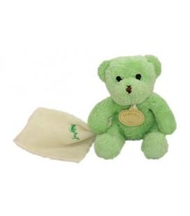 Doudou ours vert avec mouchoir - BaBY NaT ' (Babynat) - 20 cm