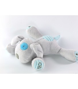 Doudou chien gris bleu 16 cm Obaibi