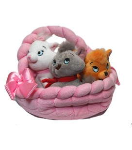 Voir description Peluche chatons LES ARISTOCHATS Panier Marie Toulouse Berlioz Disney Disneyland Paris