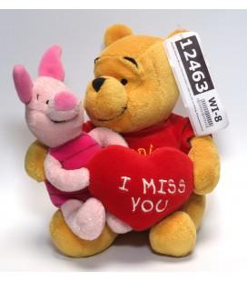 Peluche Winnie et Porcinet Coeur I miss You 20 cm Disney