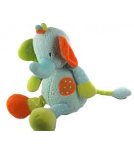 Doudou Peluche Elephant bleu Babysun 32 cm