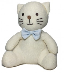 Peluche doudou chat Luminou assis 30 cm