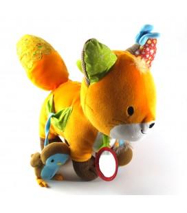 Doudou peluche d'activité éveil Renard orange Nature et Découvertes 26 cm
