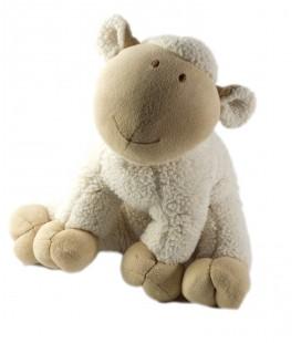 Doudou peluche Mouton beige blanc Nature et Découvertes 26 cm