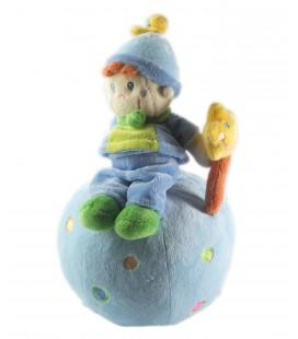 Doudou Lutin bleu etoile boule Peluche musicale Mots d'Enfants 25 cm 579/1160