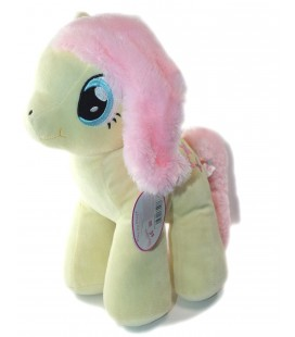 Peluche Mon petit Poney jaune rose Papillon 32 cm Play by play