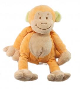 Doudou peluche Singe orange 28 cm Bengy 2006