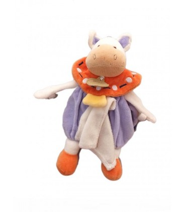 DOUDOU ET COMPaGNIE - Marionnette CHEVaL POney Mauve orange Mouchoir