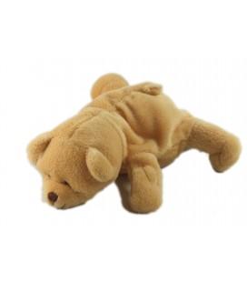 Doudou peluche ours beige Noukies 18 cm