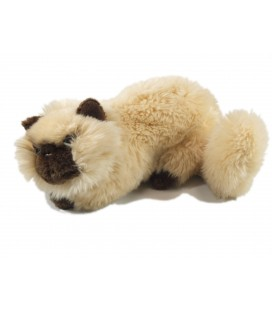 Doudou peluche Chat beige marron Playkids 32 cm