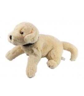 Doudou peluche chien beige clair creme ecru Anna Club Plush 32 cm