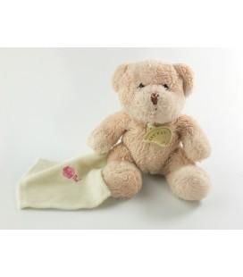 Doudou Ours beige Mouchoir assis 13 cm Baby Nat