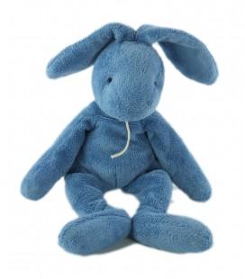 Doudou Lapin bleu 35 cm oreilles levées Baby Nat