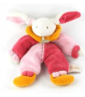 Doudou Lapin rose orange 22 cm Baby Nat