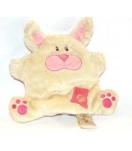 Doudou Lapin Monster Funny blanc billes 17 cm Baby Nat