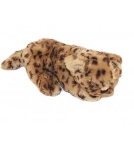 Ancien Doudou peluche Panthère Puma beige 26 cm + queue Histoire d'ours Ellipse