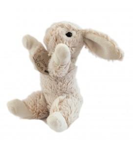 Histoire d'Ours - Doudou lapin marron foncé/clair chiné HO2033 assis 18 cm