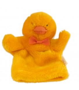 Histoire d'ours Cedeji - Peluche Doudou marionnette Poussin Canard orange jaune