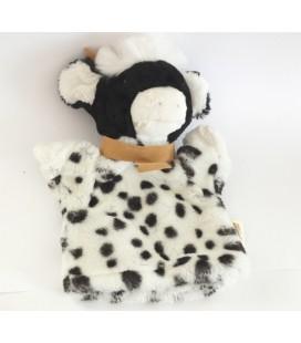 Histoire d'ours CDJ - Peluche Doudou marionnette Vache Taureau noir blanc