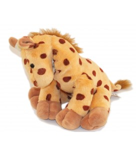 Histoire d'Ours Doudou Peluche girafe marron 30 cm