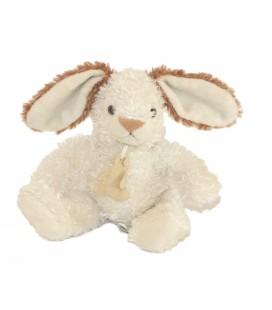 Histoire d'Ours Doudou Lapin blanc marron 28 cm au total oreilles levées