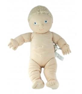 Doudou Poupon Poupée garçon blond Lekkamrat Ikea 48 cm