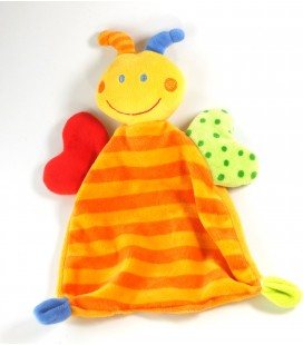 Doudou plat papillon orange Baby Sun