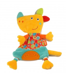 Doudou plat chien orange Babysun