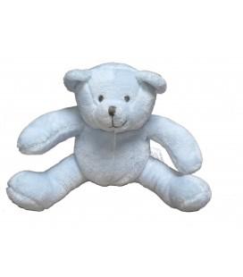 OBAIBI OKAIDI Doudou Ours bleu ciel assis 18 cm
