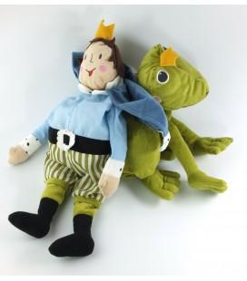 Peluche doudou Reversible Conte de fée grenouille prince IKEA Kvack 40 cm