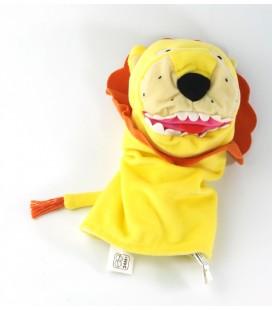 Doudou marionnette lion jaune orange Ikéa Klappar Vild
