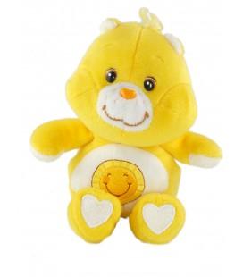 Doudou peluche ours Bisounours jaune soleil Care Bears 20 cm