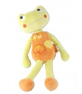 Marèse - Doudou grenouille vert orange 30 cm