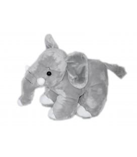 Doudou peluche éléphant gris Gipsy hauteur 20 cm