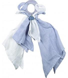 Doudou et Compagnie Doudou l'Ange Lange poignée chiffon bleu blanc DC2367
