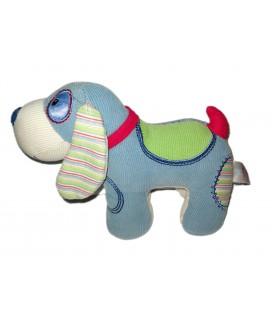 Peluche doudou chien bleu Gund Baby velours tissu 16x21 cm