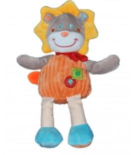Doudou lion orange Mots d'Enfants 32 cm 579/1964