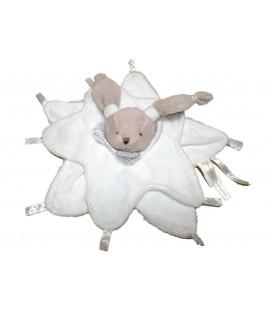 Doudou Et Compagnie Lapin Plat Céleste Blanc Gris Mon Doudou étoile